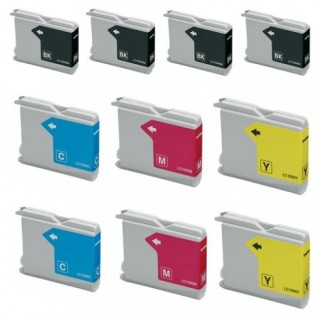 Cartucce compatibili Brother Kit 10 cartucce LC970-LC1000