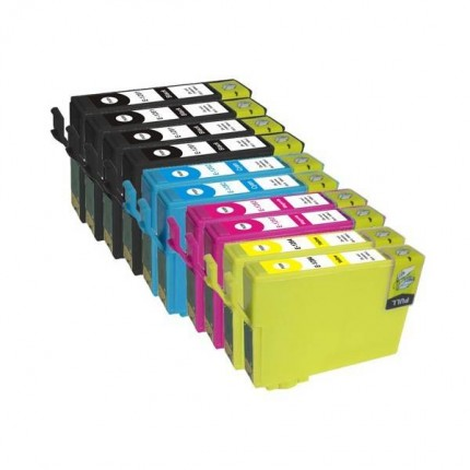 T1636-T1621 Kit 10 Cartucce Compatibili Epson 16xl WorkForce WF2010 2510 2520 2530 2540 2630