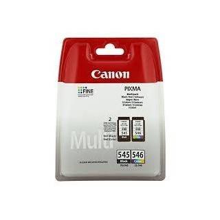 PG-545+CL-546 KIT Cartucce Originali Canon Nero+Colore MG2450 MG2550 IP2850 MX495