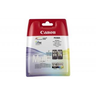 PG-510+CL-511 KIT Cartucce Originali Canon Nero + Colore MP260,MP270,MP280,MP230,MP490,MP495 MX320 MX330 MX340 MX350 MP480