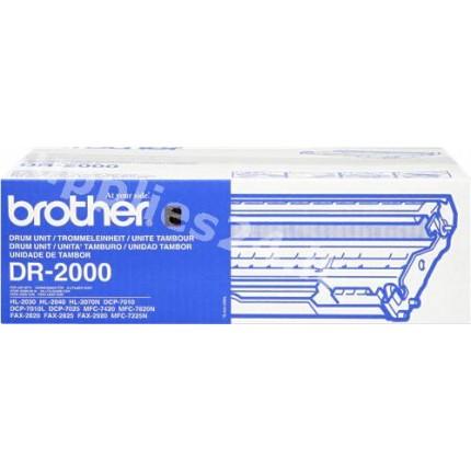 ORIGINAL Brother Tamburo nero DR-2000 ~12000 PAGINE tamburo