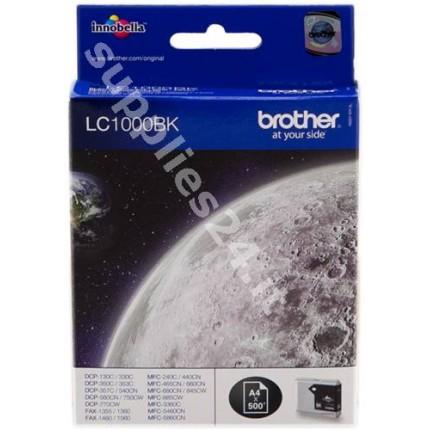 ORIGINAL Brother Cartuccia d'inchiostro nero LC1000bk LC-1000 ~500 PAGINE