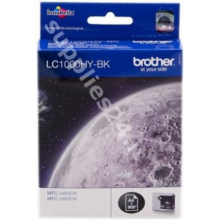 ORIGINAL Brother Cartuccia d'inchiostro nero LC1000hybk LC-1000 ~900 PAGINE
