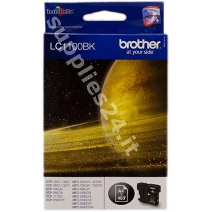 ORIGINAL Brother Cartuccia d'inchiostro nero LC1100bk LC-1100 ~450 PAGINE
