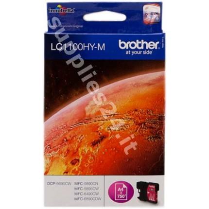 ORIGINAL Brother Cartuccia d'inchiostro magenta LC1100hym LC-1100 ~750 PAGINE