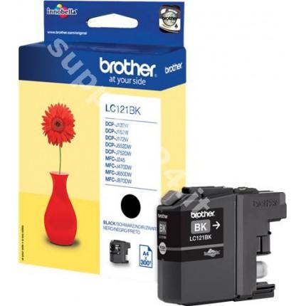 ORIGINAL Brother Cartuccia d'inchiostro nero LC121BK LC-121 ~300 PAGINE 7.1ml