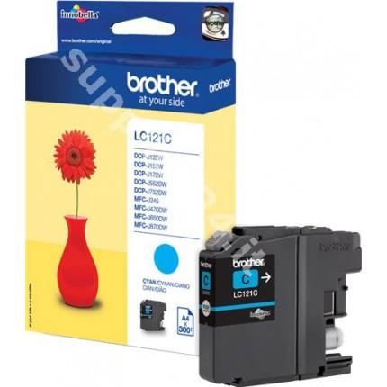 ORIGINAL Brother Cartuccia d'inchiostro ciano LC121C LC-121 ~300 PAGINE 3.9ml