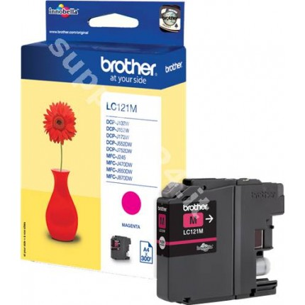 ORIGINAL Brother Cartuccia d'inchiostro magenta LC121M LC-121 ~300 PAGINE 3.9ml