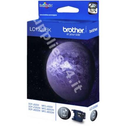 ORIGINAL Brother Cartuccia d'inchiostro nero LC1220BK LC-1220 ~300 PAGINE