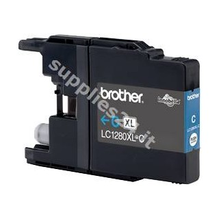 ORIGINAL Brother Cartuccia d'inchiostro ciano LC-1280XLC LC-1280 XL ~1200 PAGINE