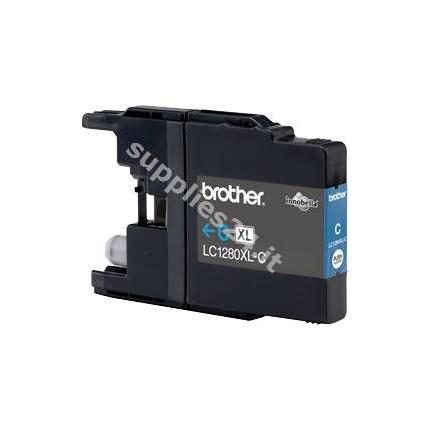 ORIGINAL Brother Cartuccia d'inchiostro ciano LC-1280XLC LC-1280 XL ~1200 PAGINE