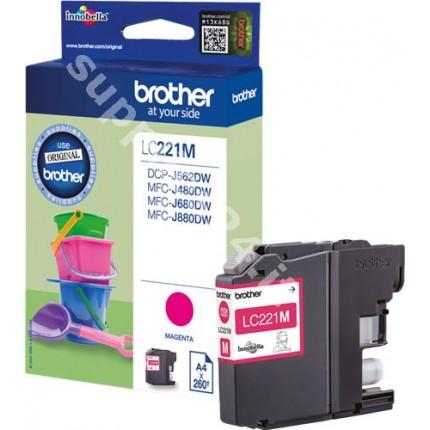 ORIGINAL Brother Cartuccia d'inchiostro magenta LC221M LC-221 ~260 PAGINE 3.9ml