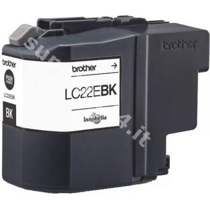 ORIGINAL Brother Cartuccia d'inchiostro nero LC-22EBK LC22E BK ~2400 PAGINE
