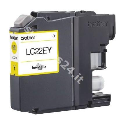ORIGINAL Brother Cartuccia d'inchiostro giallo LC-22EY LC22E Y ~1200 PAGINE 11.8ml
