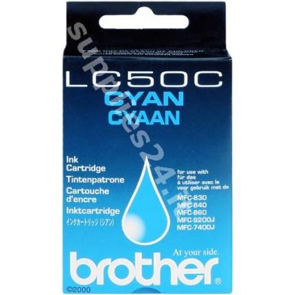 ORIGINAL Brother Cartuccia d'inchiostro ciano LC-50c