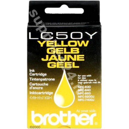 ORIGINAL Brother Cartuccia d'inchiostro giallo LC-50y