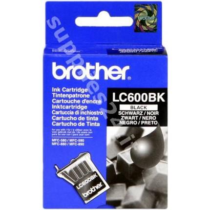 ORIGINAL Brother Cartuccia d'inchiostro nero LC-600bk ~950 PAGINE