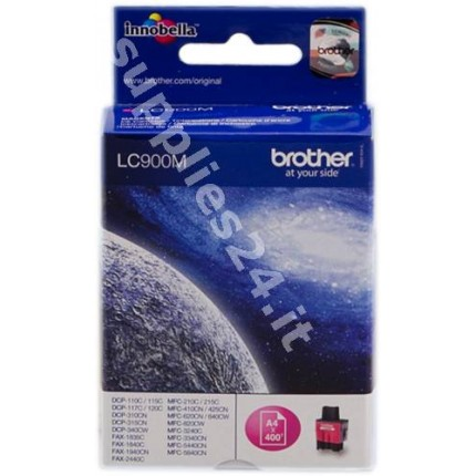 ORIGINAL Brother Cartuccia d'inchiostro magenta LC900m LC-900 ~400 PAGINE