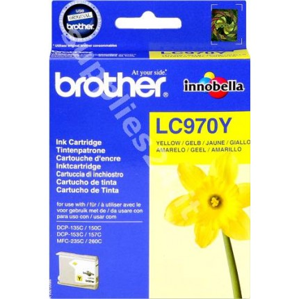 ORIGINAL Brother Cartuccia d'inchiostro giallo LC970y LC-970 ~300 PAGINE