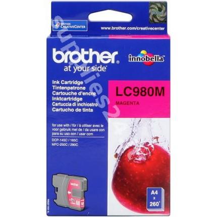 ORIGINAL Brother Cartuccia d'inchiostro magenta LC980m LC-980 ~260 PAGINE
