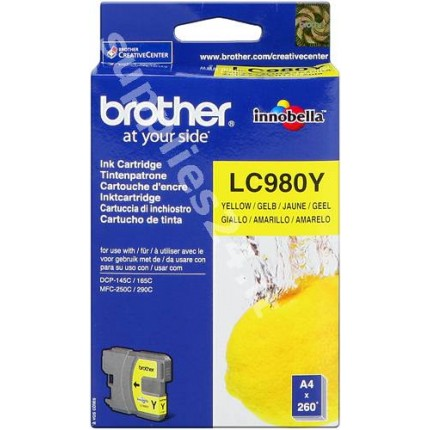 ORIGINAL Brother Cartuccia d'inchiostro giallo LC980y LC-980 ~260 PAGINE