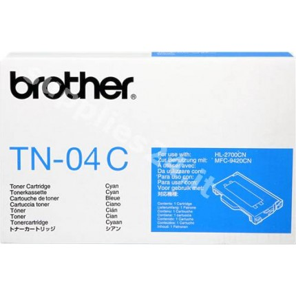 ORIGINAL Brother toner ciano TN-04c ~6600 PAGINE