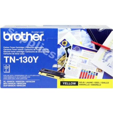 ORIGINAL Brother toner giallo TN-130y ~1500 PAGINE
