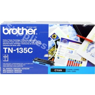 ORIGINAL Brother toner ciano TN-135c ~4000 PAGINE