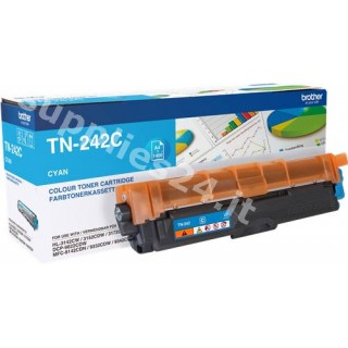ORIGINAL Brother toner ciano TN-242C ~1400 PAGINE