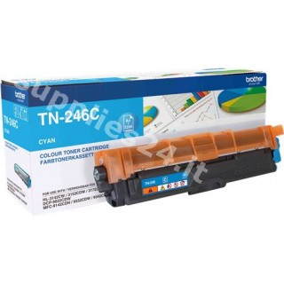 ORIGINAL Brother toner ciano TN-246C ~2200 PAGINE