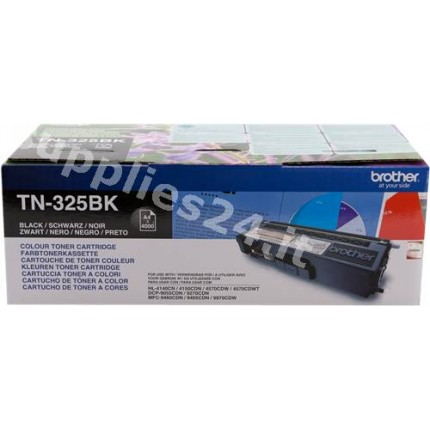 ORIGINAL Brother toner nero TN-325BK ~4000 PAGINE