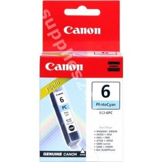 ORIGINAL Canon Cartuccia d'inchiostro ciano (foto) BCI-6pc 4709A002 13ml