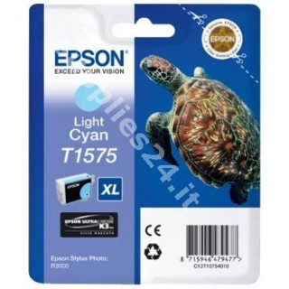 ORIGINAL Epson Cartuccia d'inchiostro ciano (chiaro) C13T15754010 T1575 25.9ml