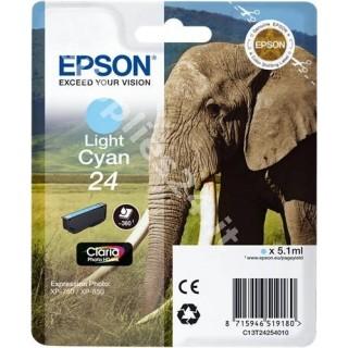 ORIGINAL Epson Cartuccia d'inchiostro ciano (chiaro) C13T24254010 T2425 ~360 PAGINE 5.1ml