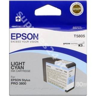 ORIGINAL Epson Cartuccia d'inchiostro ciano (chiaro) C13T580500 T5805 80ml