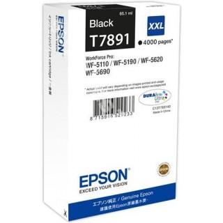 ORIGINAL Epson Cartuccia d'inchiostro nero C13T789140 T7891 ~4000 PAGINE 65.1ml XXL