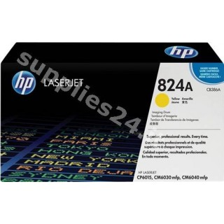 ORIGINAL HP Tamburo giallo CB386A 824A ~35000 PAGINE tamburo