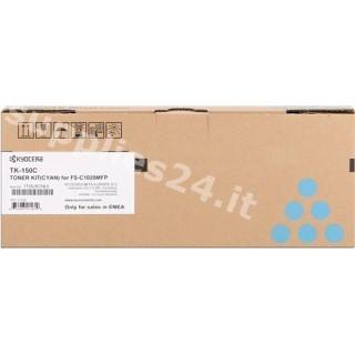 ORIGINAL Kyocera toner ciano TK-150c 1T05JKCNL0 ~6000 PAGINE
