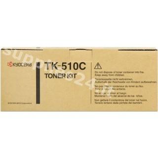 ORIGINAL Kyocera toner ciano TK-510c 1T02F3CEU0 ~8000 PAGINE