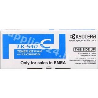 ORIGINAL Kyocera toner ciano TK-540c 1T02HLCEU0 ~4000 PAGINE