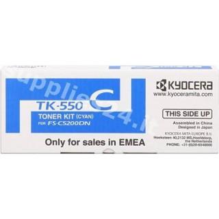 ORIGINAL Kyocera toner ciano TK-550c 1T02HMCEU0 ~6000 PAGINE