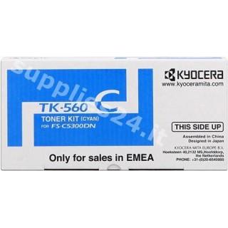 ORIGINAL Kyocera toner ciano TK-560c 1T02HNCEU0 ~10000 PAGINE
