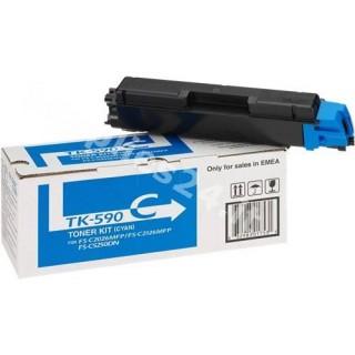 ORIGINAL Kyocera toner ciano TK-590c 1T02KVCNL0 ~5000 PAGINE