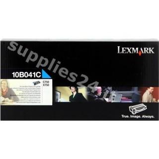 ORIGINAL Lexmark toner ciano 10B041C ~6000 PAGINE