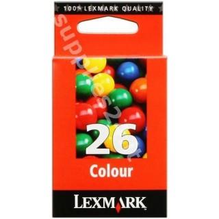 ORIGINAL Lexmark Cartuccia d'inchiostro colore 10N0026E 26 ~275 PAGINE