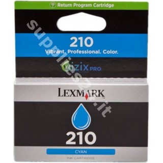 ORIGINAL Lexmark Cartuccia d'inchiostro ciano 14L0086E 210 ~500 PAGINE cartuccia di ritorno