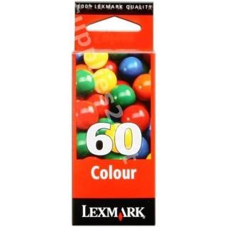 ORIGINAL Lexmark Cartuccia d'inchiostro colore 17G0060 60 ~225 PAGINE