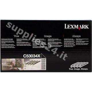 ORIGINAL Lexmark Tamburo C53034X a 4 pezzi