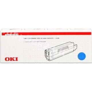 ORIGINAL OKI toner ciano 42127407 Type C6c ~5000 PAGINE