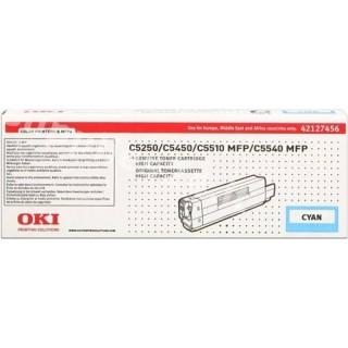 ORIGINAL OKI toner ciano 42127456 ~5000 PAGINE